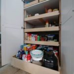 Sliding shelf Pantry.