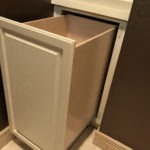 Laundry Hamper from Top Shelf Pull Out Shelf