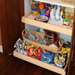 Organized Snack Sliding Shelf.