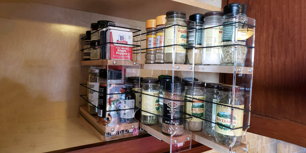 pullout shelf spice rack