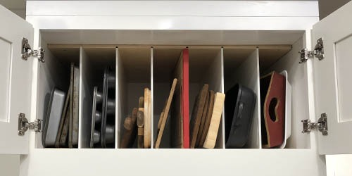 overhead shelf organization